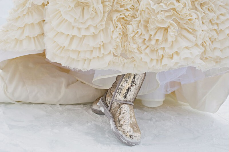 冬季雪地婚礼不冻脚?全靠这些婚靴!