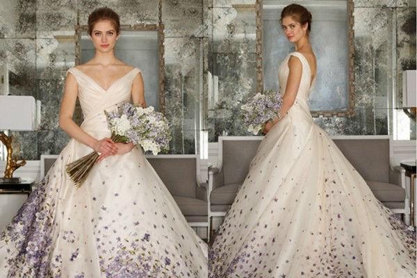 这么好看的印染花卉婚纱,怎么忍心错过!