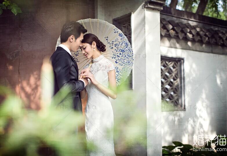 创意复古时尚风婚纱照
