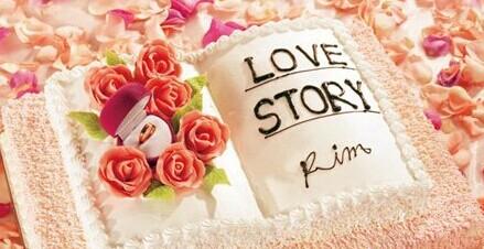 创意婚礼蛋糕 书形蛋糕
