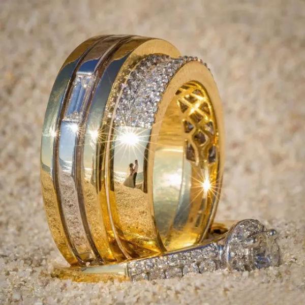 广州婚纱摄影:婚纱照居然还能放在婚戒上!