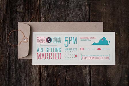 这些创意又好看的结婚请柬,令人眼前一亮!
