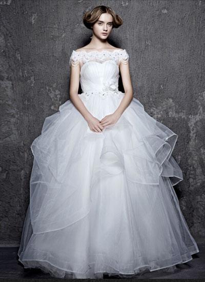 矮个子新娘如何挑选婚纱?