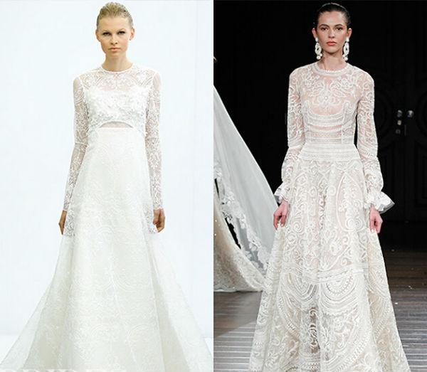 你知道婚纱时装秀的前五名时装都长啥样吗?