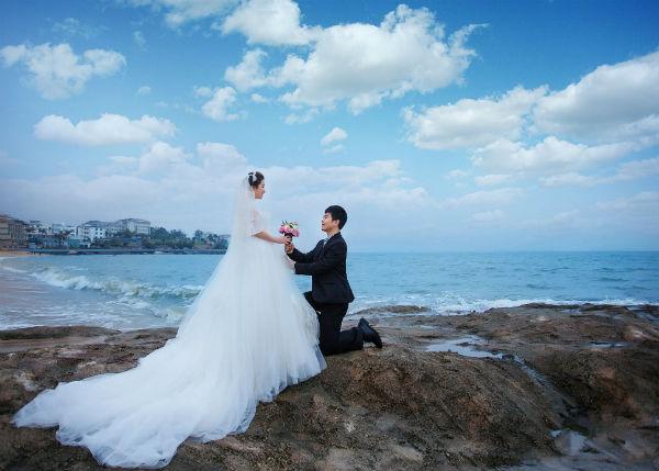 【厦门婚纱摄影】高个子新娘如何拍好厦门婚纱照