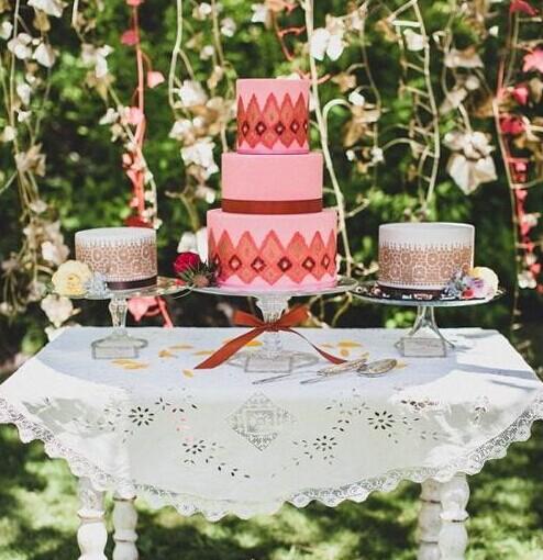 DIY自己的个性婚礼 复古波西米亚婚礼