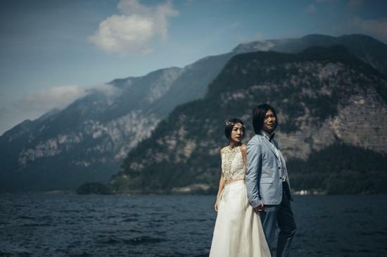 五月天玛莎在希腊圣托里岛举行婚礼 婚礼猫