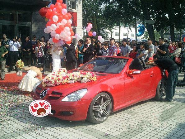 个性的西式婚礼花车 创意婚车