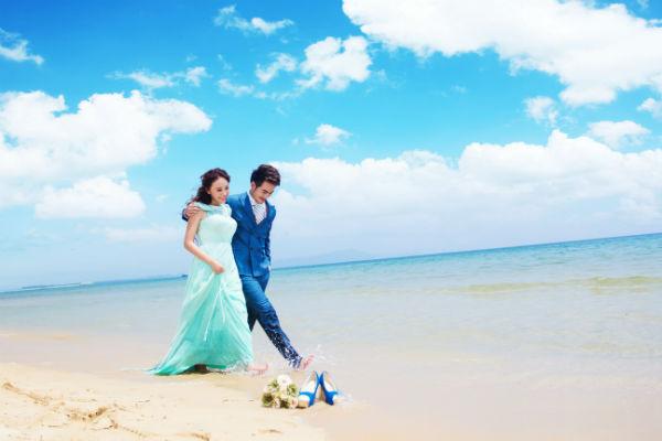 三亚旅拍,不一样的海景婚纱照!