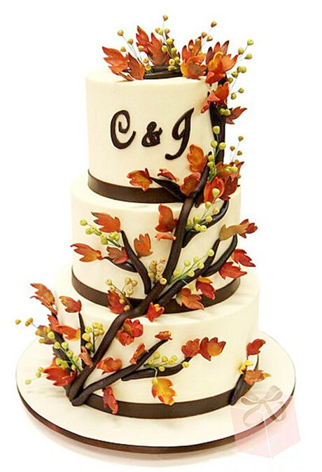 这样的秋季婚礼蛋糕给我来一打!