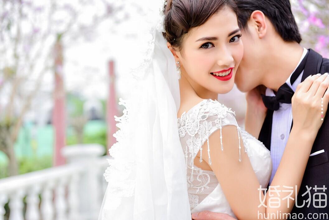 在百万葵园拍摄的外景婚纱照 幸福瞬间你我共同见证 婚礼猫