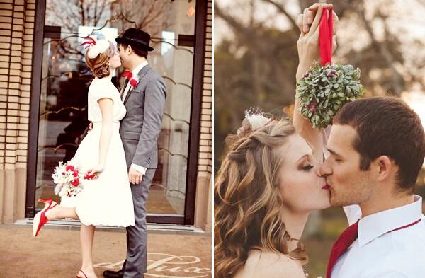 圣诞主题婚礼灵感 温馨浪漫皆不缺