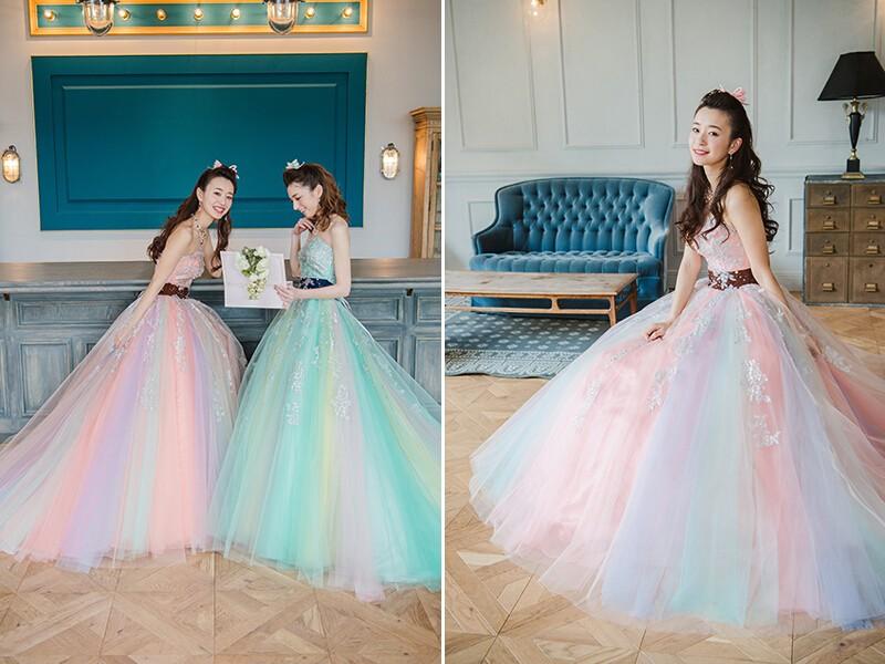 我的少女心都被这些粉嫩的婚纱激发了!