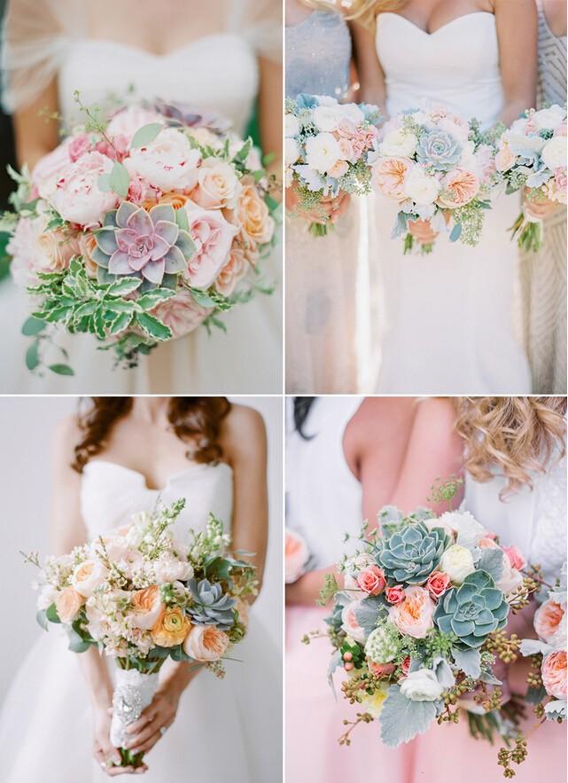多肉手捧花,你的婚礼风景线!