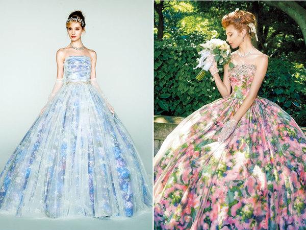 梦幻般的彩色印花婚纱礼服,难道你不想要?