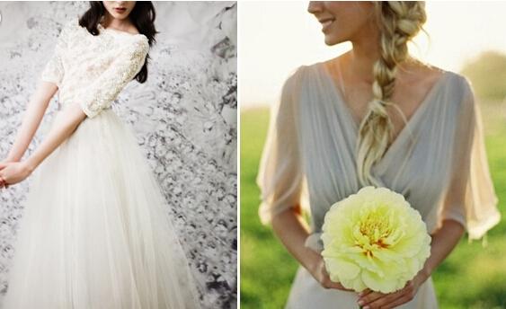 这些有袖婚纱是遮住粗手臂的神器!