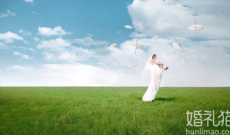 任何人都能驾驭的漂浮婚纱照,与颜值无关