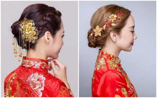 秀禾服新娘发型头饰搭配,你的发型选好了吗?
