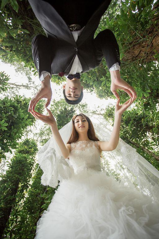 创意婚纱照,看明星如何拍创意婚纱照