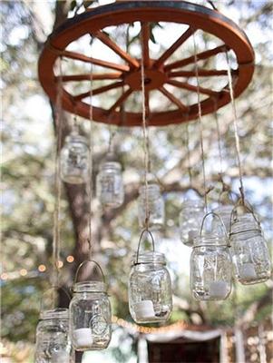 梦幻乡村风:小清新婚礼必备单品之梅森瓶
