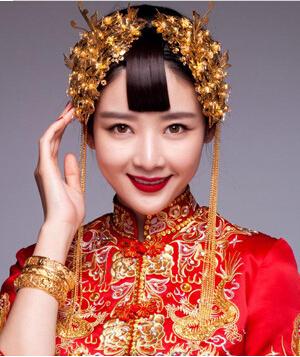 6款受欢迎的中式婚礼新娘发型图片