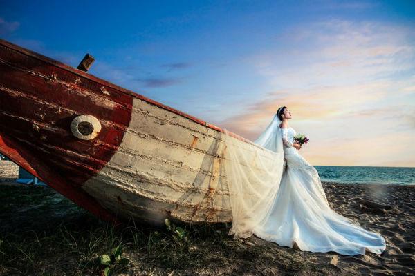 三亚婚纱摄影,邂逅一场完美海景婚纱照!