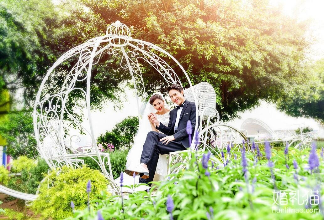在百万葵园拍摄的外景婚纱照 幸福瞬间你我共同见证