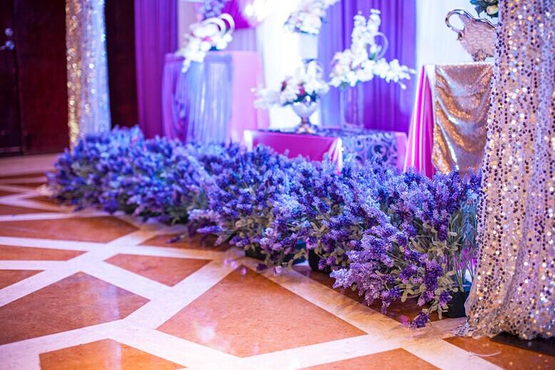 【主题婚礼】薰衣草的浪漫式婚礼布置