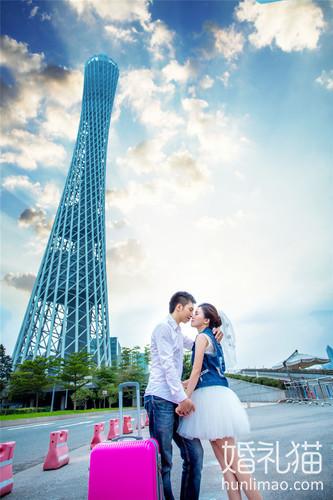 广州外景婚纱照 写下纯天然的完美爱情