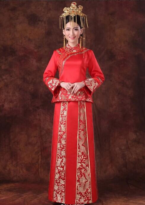 传统嫁衣旗袍挑选 东方新娘必选的婚纱