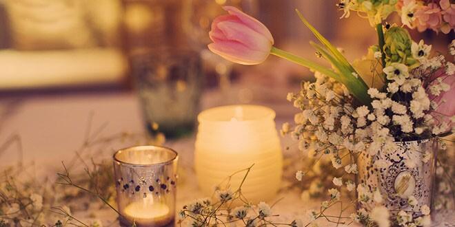 欧式浪漫的烛光婚礼布置技巧