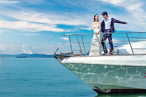 三亚亚龙湾,婚纱照必拍的景点之一