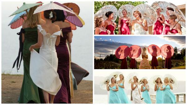 婚礼遮阳伞除了遮阳还能这么玩!