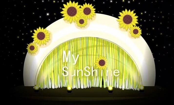 明黄和嫩绿的婚礼布置,感受到夏日的清爽么?