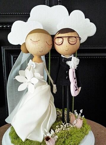 各种萌萌哒婚礼蛋糕 让你垂涎欲滴