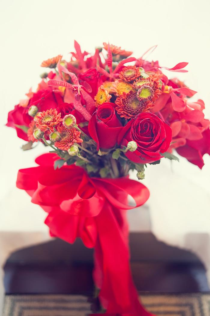 刘诗诗的手捧花很好看图片
