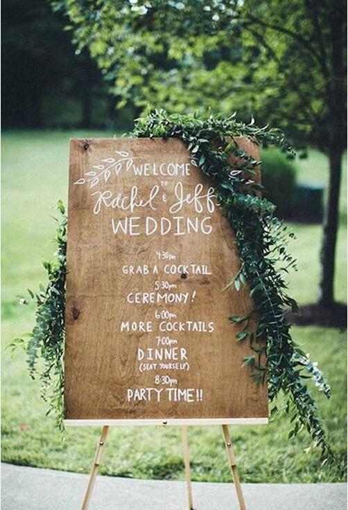 这九款迎宾牌为你的婚礼增色!