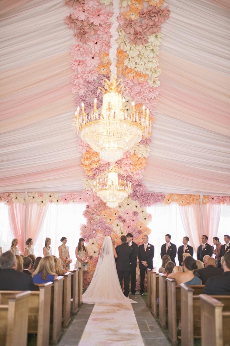不用鲜花的婚礼 纸花以假乱真装扮婚礼
