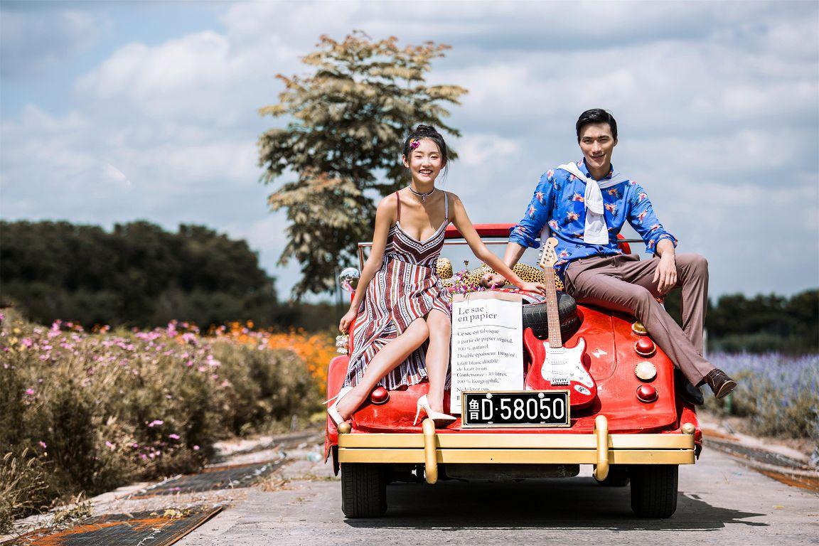 旅游婚纱摄影技巧 穿着婚纱去旅行