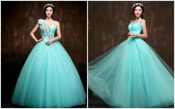 蓝色婚纱礼服,演绎不同韵味!