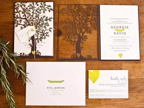 婚礼请柬图片大全,创意有个性的结婚请柬模板你见过吗