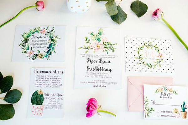 如此色彩斑斓的婚礼请柬,一定有你喜欢的!