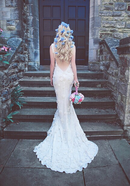 蓝白色婚礼主题 婚礼布置的结婚攻略