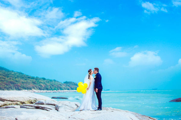 三亚婚纱摄影,打造完美的婚纱照!