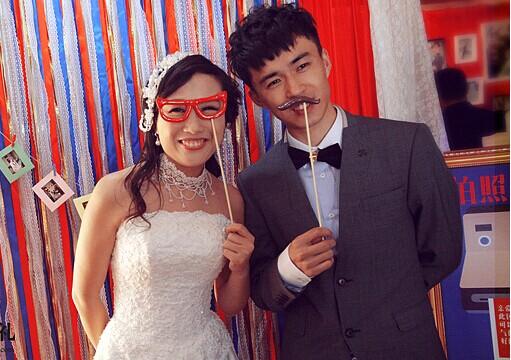 婚礼现场拍照区 留下珍贵回忆