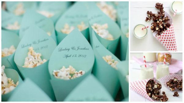 婚宴美食爆米花创意装饰