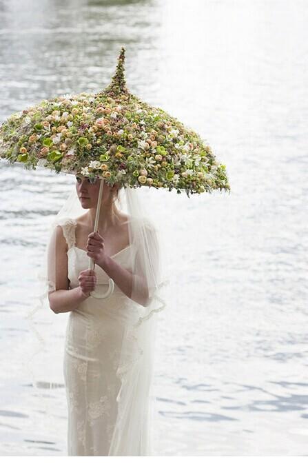 个性婚礼造型伞 打造时尚婚礼用伞