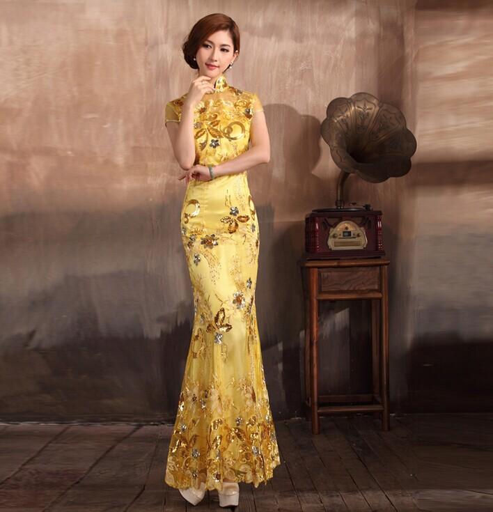 最新的2015中式婚礼新娘旗袍 最美旗袍装 婚礼猫