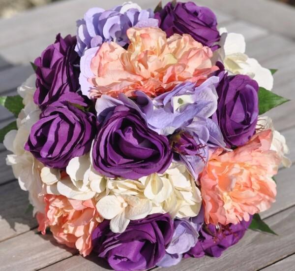【紫色主题婚礼鲜花】紫色情缘浪漫婚礼鲜花