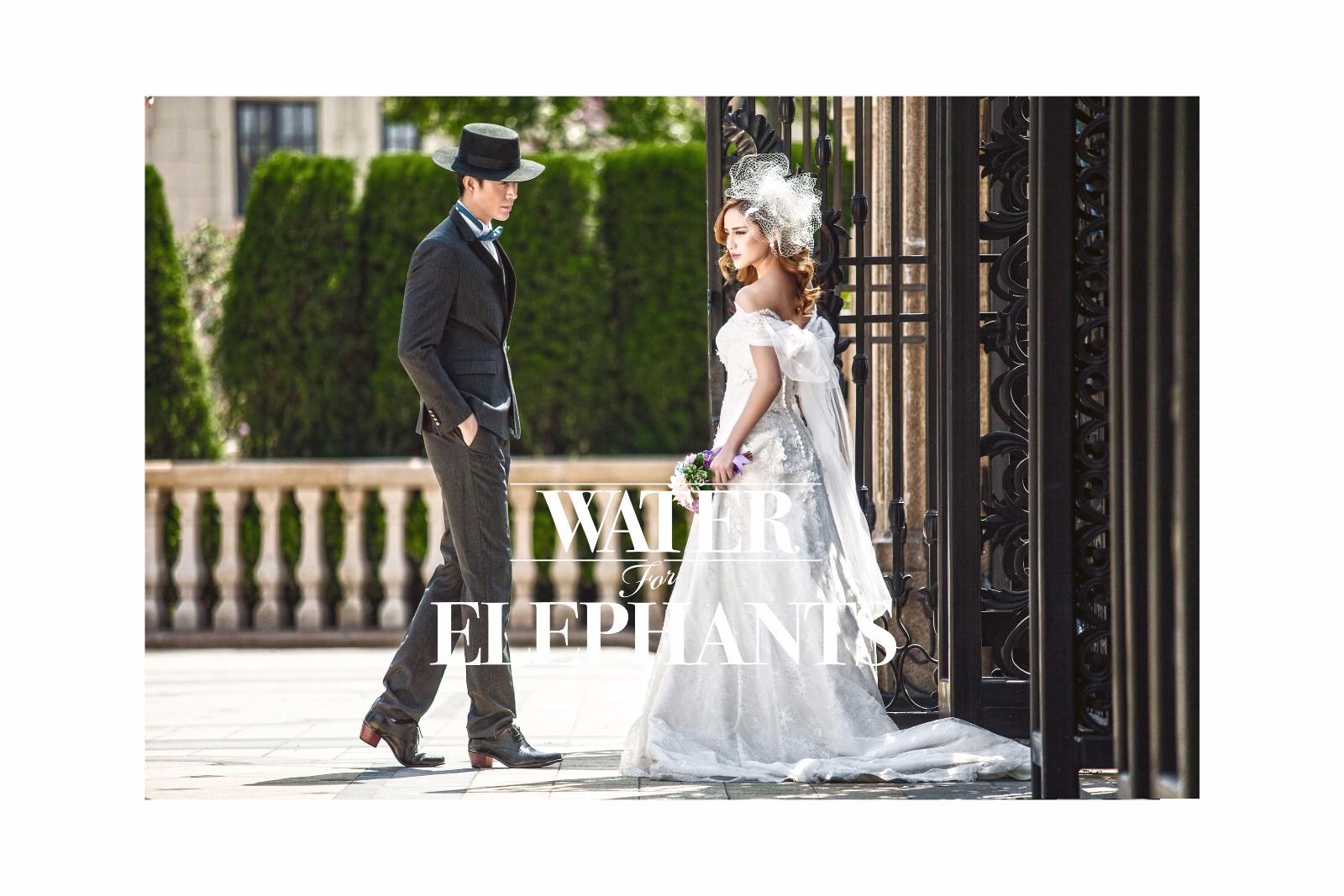 韩式婚纱照新娘发型,是有一定的方向及特点的。